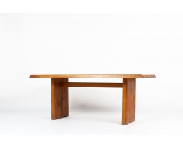 Pierre Chapo rectangular dining table model T14 in elm 1970