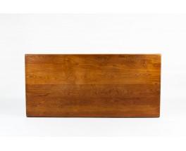 Table de repas rectangulaire Pierre Chapo modèle T14 en orme 1970