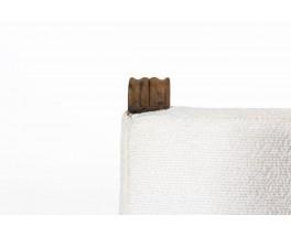 Fauteuil en chêne et tissu Maison Thevenon XXème siècle