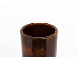 Vase large model in brown ceramic 1950
