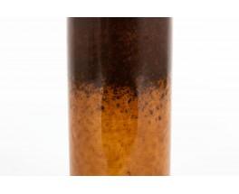 Vase rouleau en céramique marron grand modèle 1950