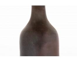Ceramic vases beige and brown 1950 set of 3