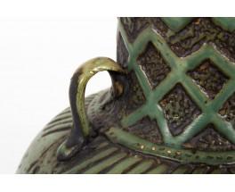 Vase in green ceramic German design 1960