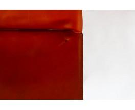 Chaises Mario Bellini modèle 412 cab cuir marron édition Cassina 1970 set de 6
