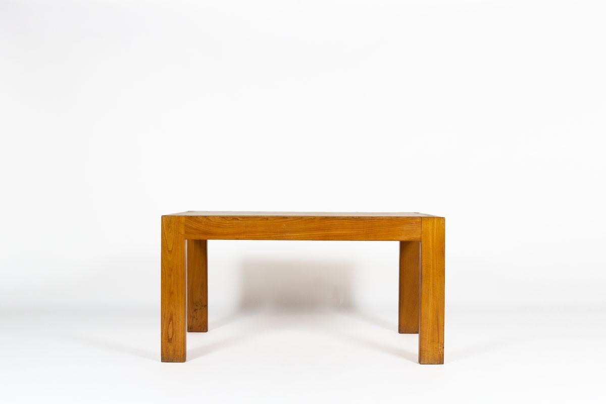 Table de repas rectangulaire en orme édition Maison Regain 1980