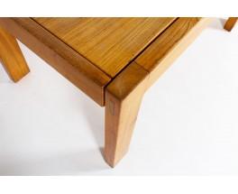 Rectangular dining table in elm edition Maison Regain 1980