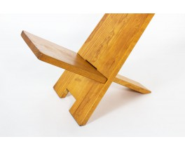 Alain Gaubert armchair in oak 1980