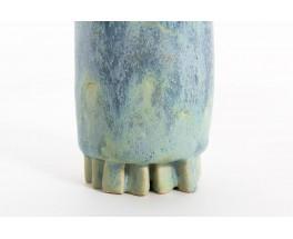 Ensemble de vases en céramique bleue 1950 set de 3