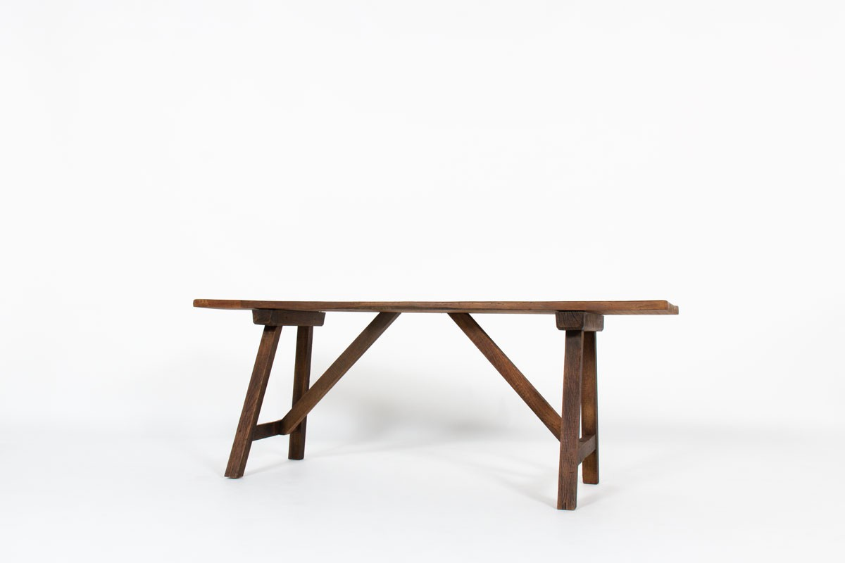 Console table in pine brutalist design 1950