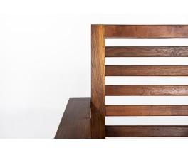 Fauteuil en chêne design reconstruction 1950