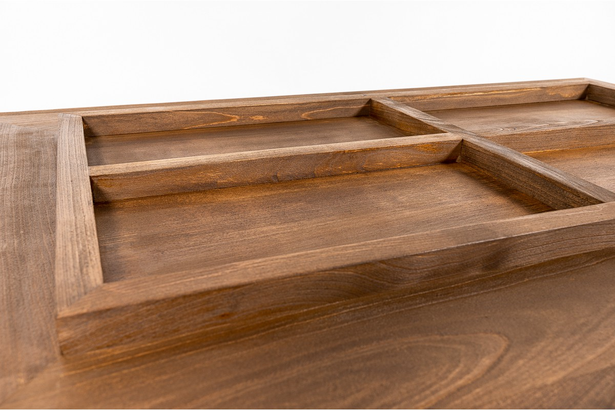 Coffee table large model in tinted beech 1950