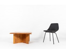 Square coffee table in elm 1980