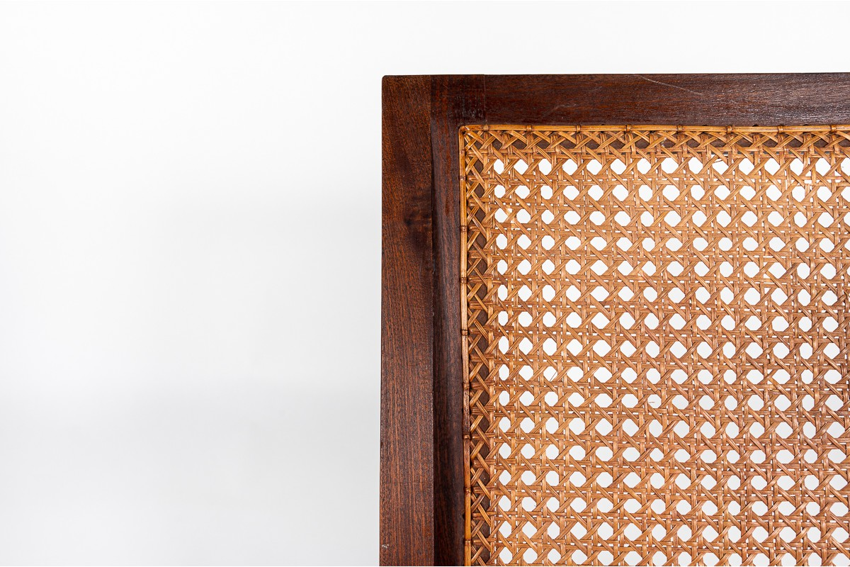 Armchair in teak and caned 1950
