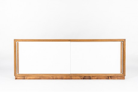 Andre Sornay sideboard in mahogany and white lacquer 1960