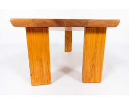 Table basse forme libre en orme 1980