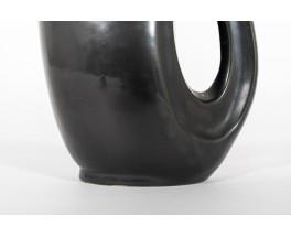 Pitcher in black matte ceramic 1950