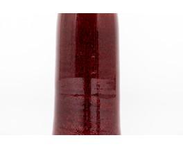 Vase in red ceramic 1950