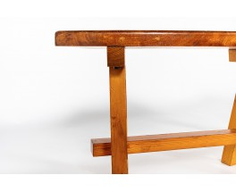 Round benches in pine 1950 set of 4