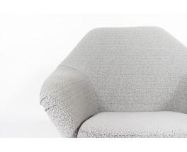 Osvaldo Borsani armchairs model P32 Maison Thevenon fabric edition Tecno 1960 set of 2