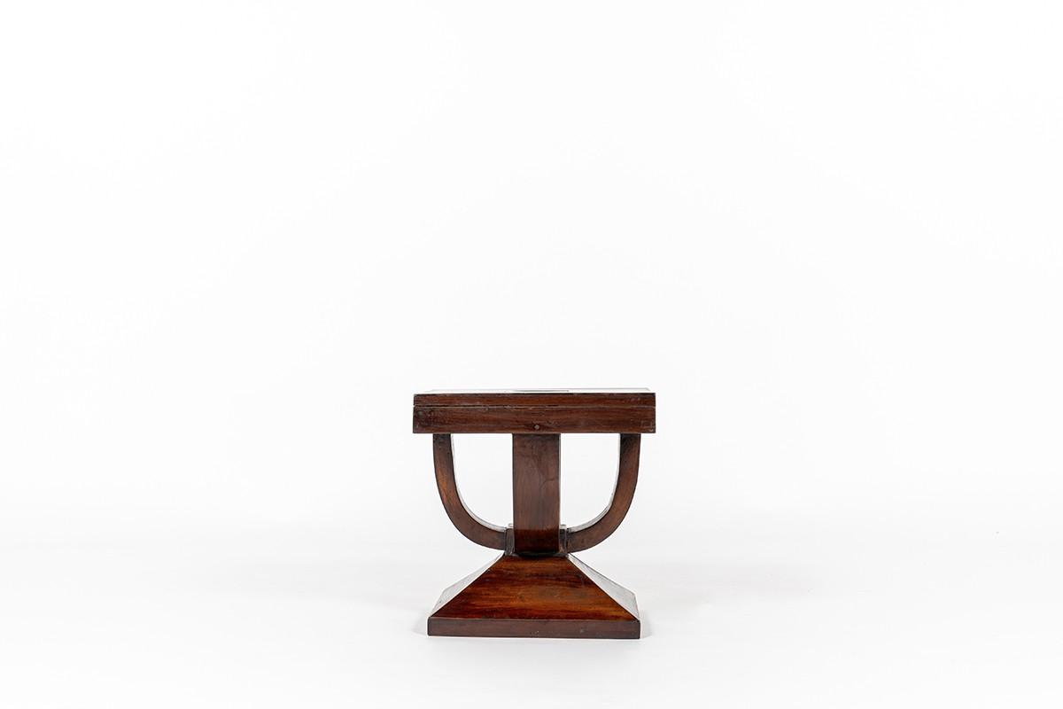 End of sofa in mahogany Art Deco design 1930