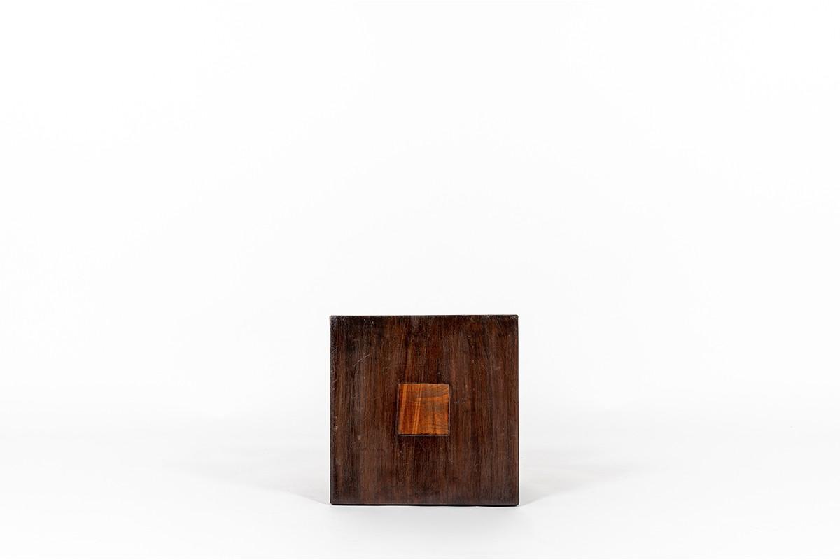 Bout de canapé en acajou design Art Déco 1930
