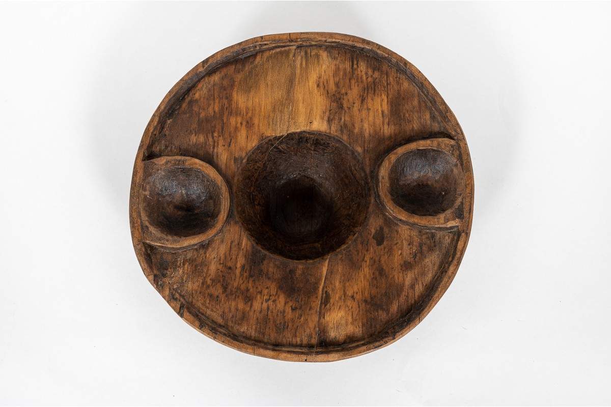 Monoxyl cup in wood African design 1950