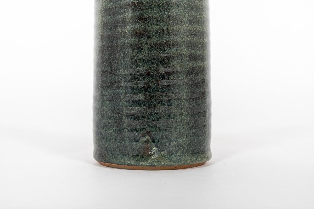 Vase in ceramic green large model 1950