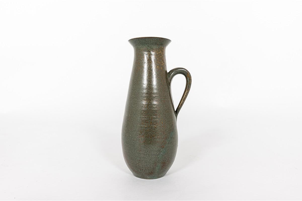Pichet en céramique vert 1950