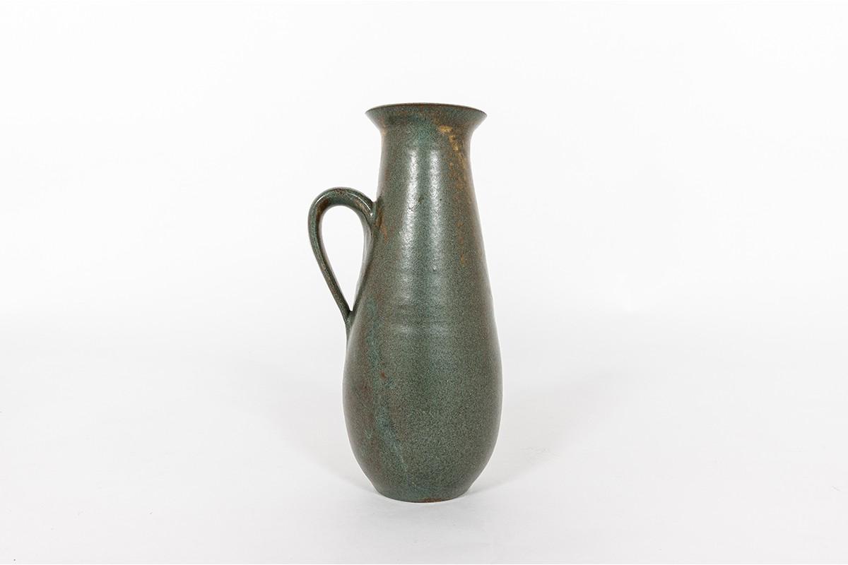 Pitcher in green ceramic 1950