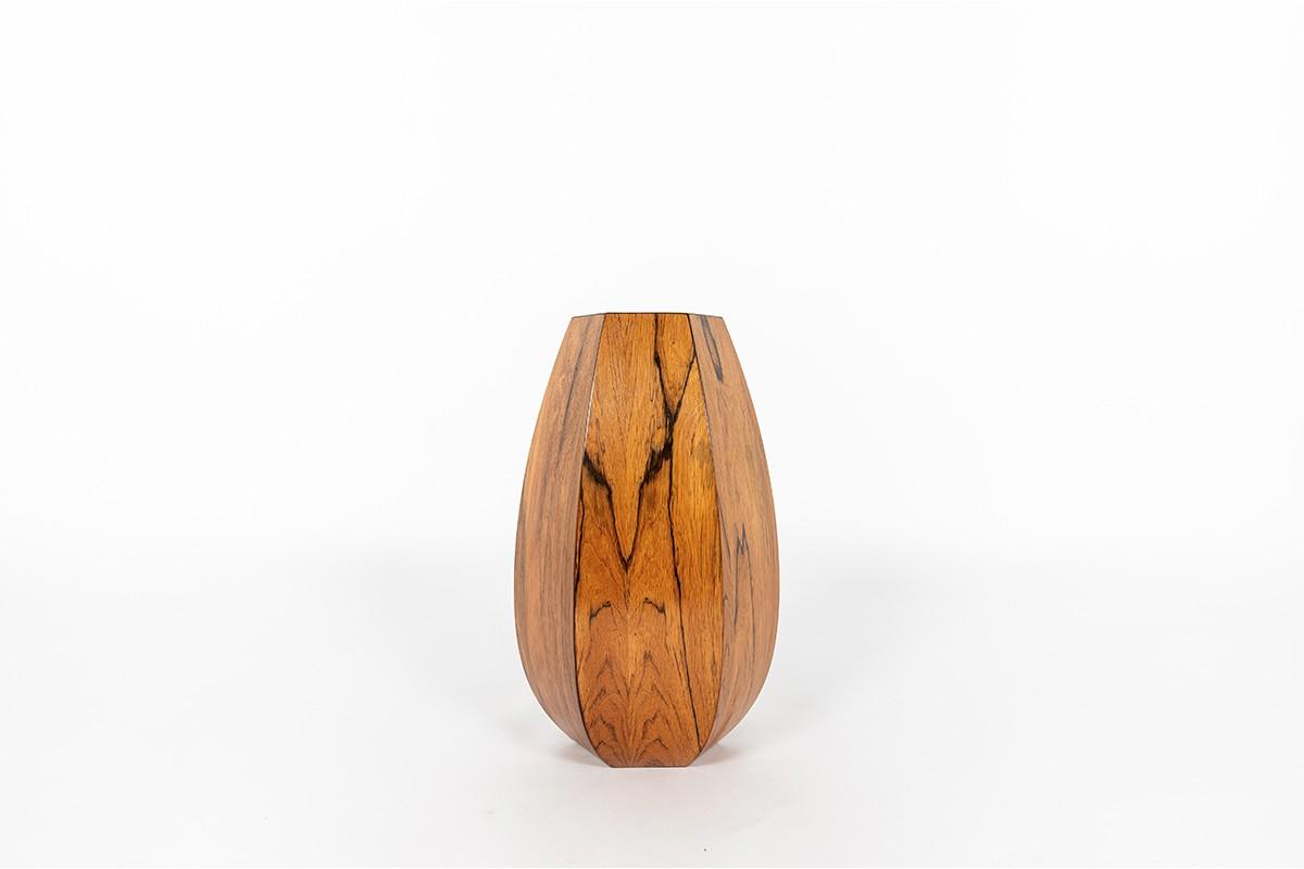 Rosewood vase Danish design 1950