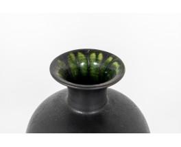 Vase in black ceramic German design 1960