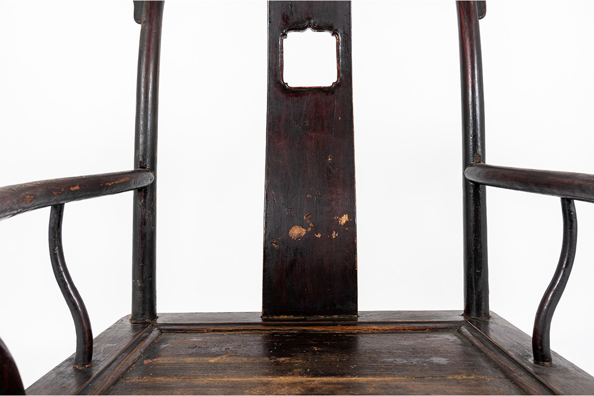 Armchairs lettered hat in tinted elm chinese design 1900