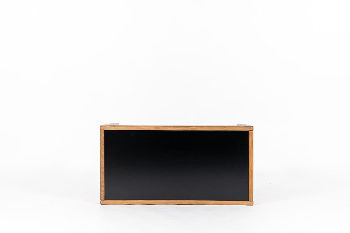 Console André Sornay en hêtre teinté laqué noir 1960