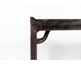 Console en orme noirci design chinois 1900