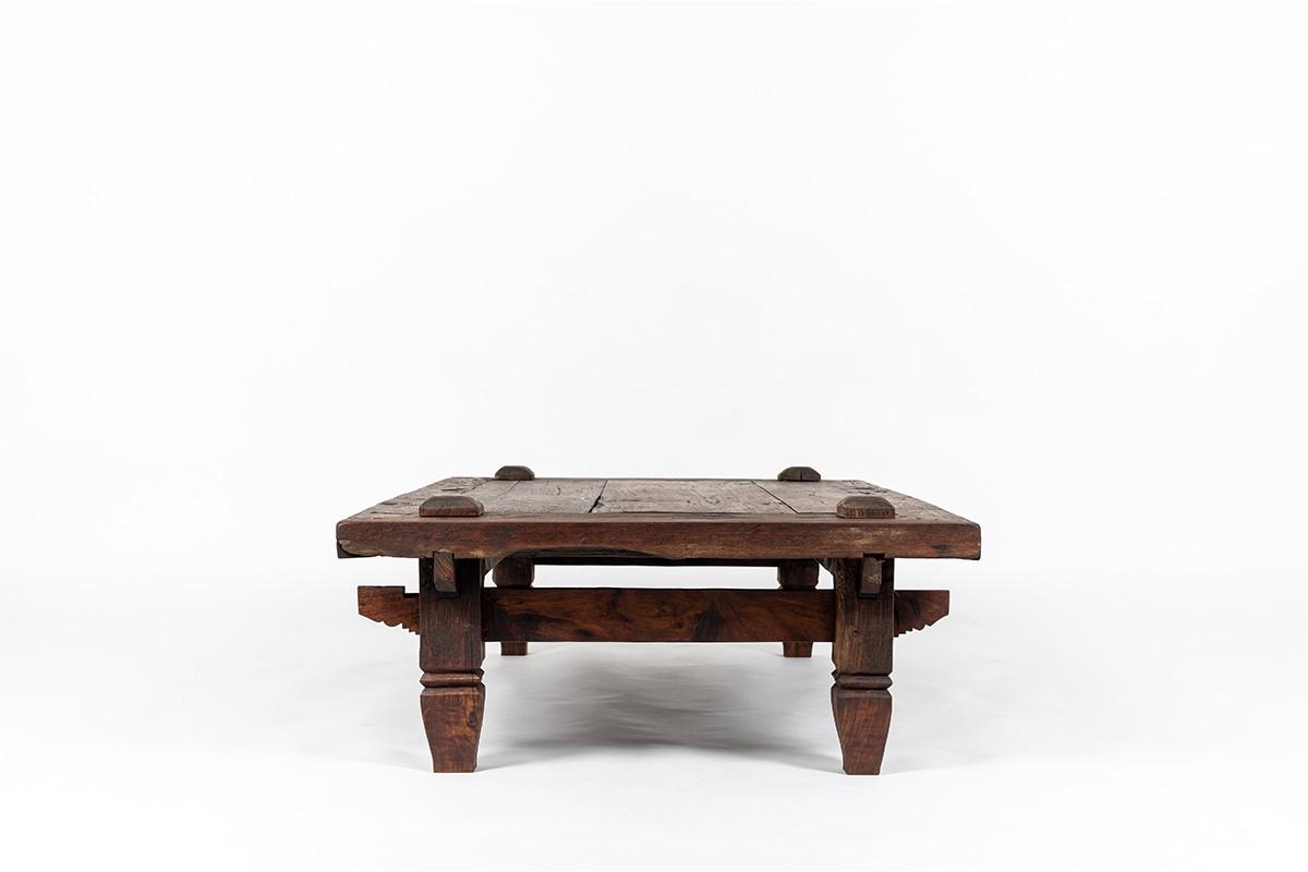 Coffee table large model in tinted teak 1950