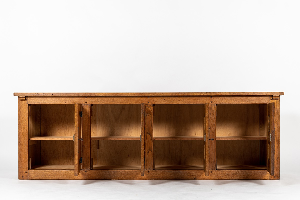 Sideboard in oak large model 1950