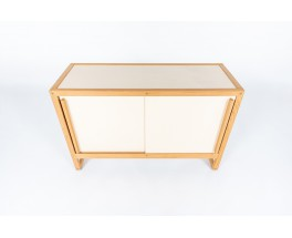 Andre Sornay cabinet in beech and beige panels 1960