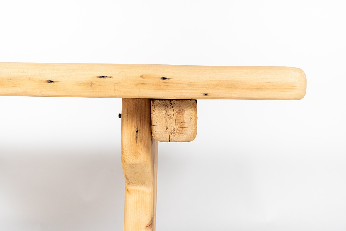 Rectangular dining table in Canadian chalet pine 1950