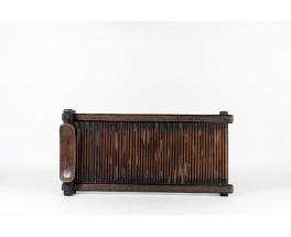 Senoufo coffee table in black wood African design 1950