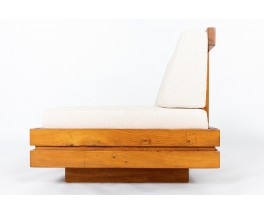 Low chair elm and Maison Thevenon fabric 1980