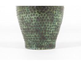 Set of ceramic vases in black and green tones 1960 set of 3