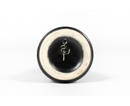 Ensemble de vases en céramique tons noir et vert 1960 set de 3