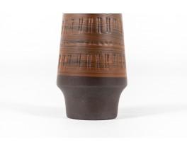Vase en céramique marron 1960