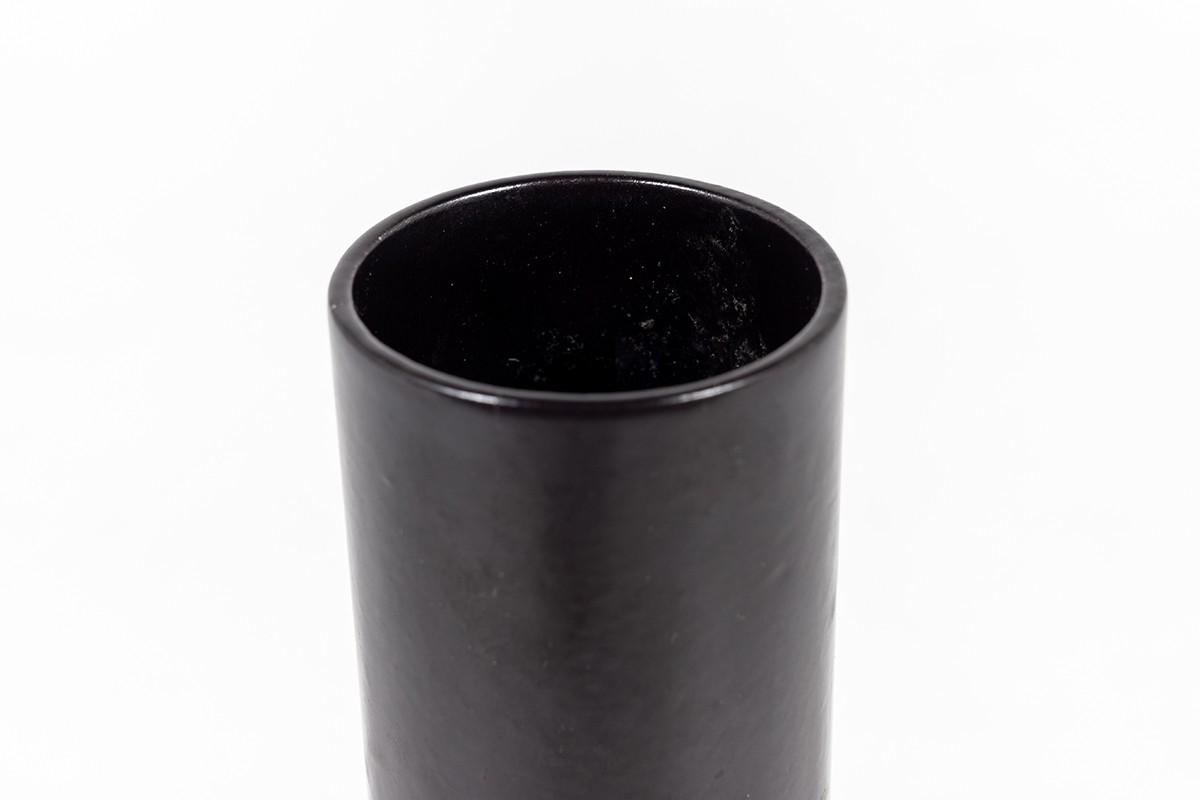 Ensemble De Vases En Céramique Tons Noir Et MArron 1960 Set De 3
