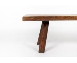 Coffee table in oak brutalist design 1950