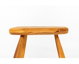 Stools in pine free form 1950 set of 6