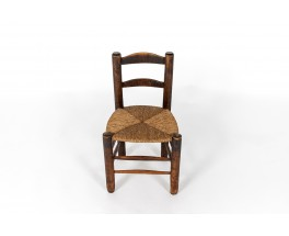Chair in oak with straw seat 1950