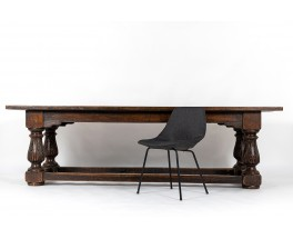 Console table very large model in oak Spanish design 18th century
