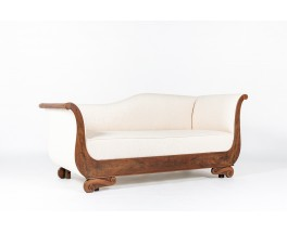 Louis Philippe day bed in walnut and Maison Thevenon fabric 1900