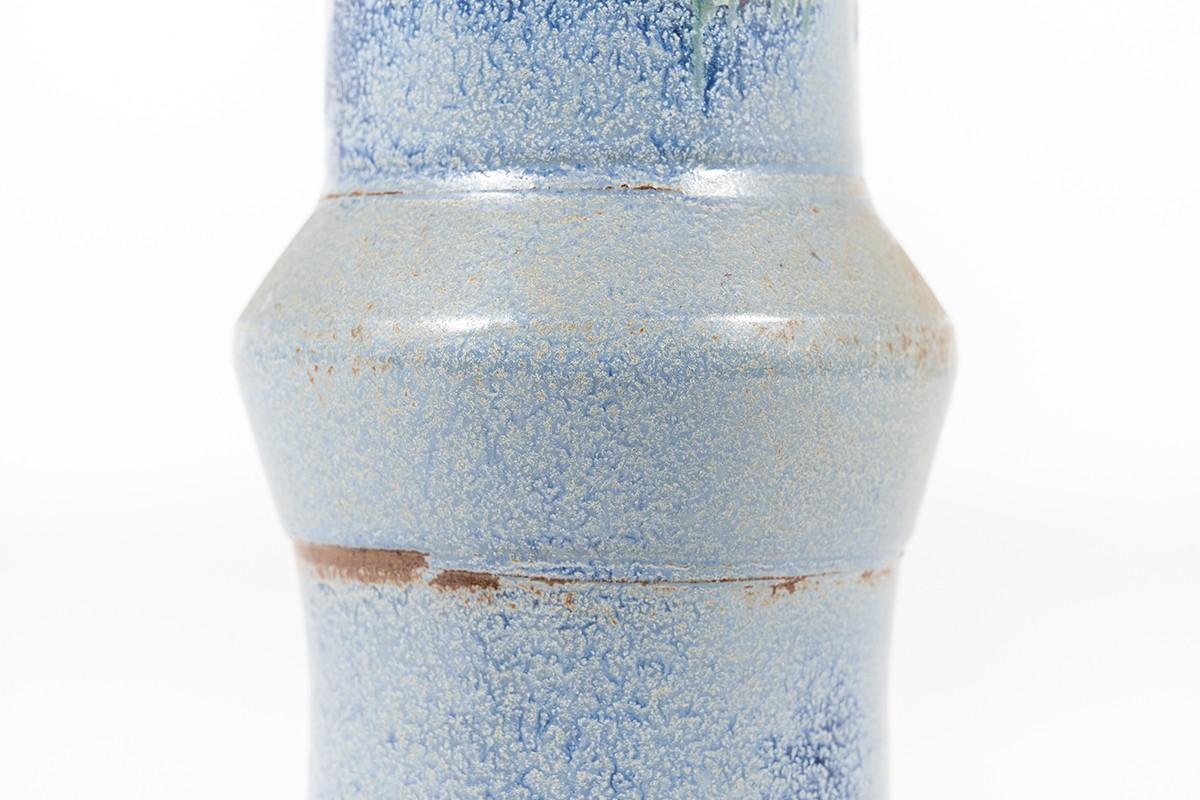 Vase in sandstone blue tone Danish design 1960